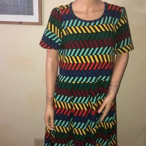 NWOT Lula roe colorful dress with pockets